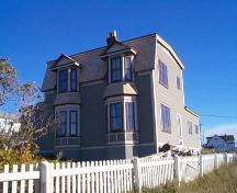 Exterior view of front and side facades, Lockyer/Swyers House Bonavista, NL; 2004 Heritage Foundation of Newfoundland and Labrador