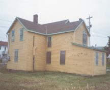View of side and rear facades of the Somerton Property, Wabana, Bell Island.; HFNL 2004