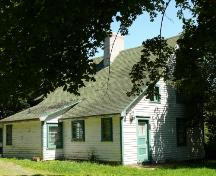 The rear facade has traditionally been the main entrance to most Newfoundland homes.  Thimble Cottage has two rear entrances. Photo taken August 7, 2007.; Deborah O'Rielly/ HFNL 2007