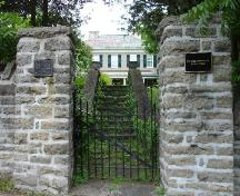 Gate and plaque; Rideau Heritage Intiative 2006