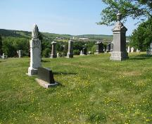 Image of cemetery overlooking the valley; Town of Sussex