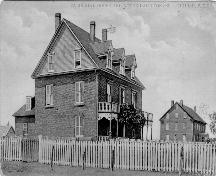 Showing convent on right - without dormer windows; Province of PEI