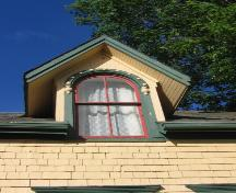 Showing detail of round arch dormer window; D&S Latham, 2007