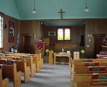 View of the interior looking towards the sanctuary, 2007.; Brett Quiring, 2007.