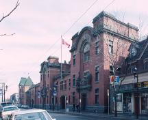 Corner view of the façade of the John Weir Foote Armoury.; Parks Canada Agency/ Agence Parcs Canada.