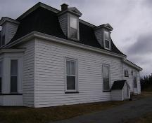 Side elevation, Moses Atkinson House, Stoney Island, NS, 20008.; Department of Tourism, Culture and Heritage, Province of Nova Scotia 2008
