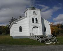 Front view of Saint Joseph's Roman Catholic Church, Marble Mountain, Nova Scotia, 2002.; Inverness County Heritage Advisory Committe, 2002