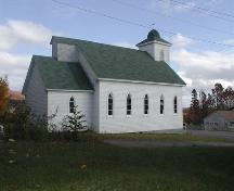 Side view of Saint Joseph's Roman Catholic Church, Marble Mountain, Nova Scotia, 2002.; Inverness County Heritage Advisory Committe, 2002