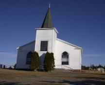 Front elevation of Cape Negro Church, Cape Negro, NS, 2007.; Department of Tourism, Culture and Heritage, Province of Nova Scotia 2007