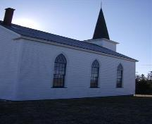 Side elevation, Cape Negro Church, Cape Negro, 2007.; Department of Tourism, Culture and Heritage, Province of Nova Scotia 2007