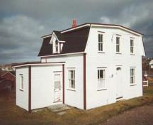 View of front facade of Beckett House after restoration; Heritage Foundation of Newfoundland and Labrador, file # M-044-011, Old Perlican - Beckett Property