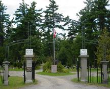 Front gate of St. Stephen Rural Cemetery; Town of St. Stephen