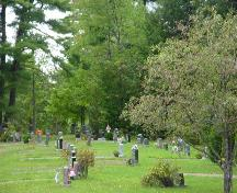 Picturesque view of St. Stephen Rural Cemetery; Town of St. Stephen