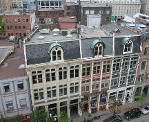 View taken from roof of Gooderham Bldg., located to the north and east. #47 is the centre, red unit.; OHT, 2004