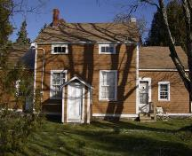 Rear elevation of the Doane House, Coffinscroft, NS, 2007.; Department of Tourism, Culture and Heritage, Province of Nova Scotia 2008