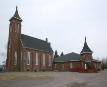 Showing original church with new addition; Town of Montague, 2006