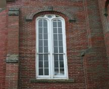 Showing round arch window detail; Town of Montague, 2006