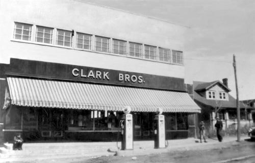 Archive image of home next to Clark Bros. store