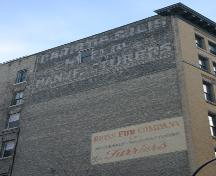 Painted wall signage on the Bedford Building, Winnipeg, 2006; Historic Resources Branch, Manitoba Culture, Heritage, Tourism and Sport, 2006