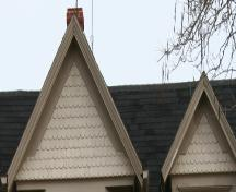 Detail of scalloped shingles; Province of PEI, 2007