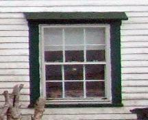 First storey, main elevation window detail, Bower House, Upper Port La Tour, NS, 2008.; Department of Tourism, Culture and Heritage, Province of Nova Scotia 2008