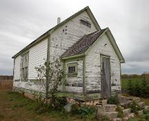 Primary elevations, from the southeast, of Glen Elmo School, Rossburn area, 2006; Historic Resources Branch, Manitoba Culture, Heritage and Tourism, 2006