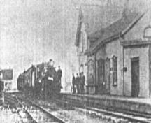 Showing station house at time of 1932 accident; Alberton Museum
