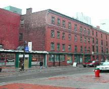 Photograph of the building looking north on Canterbury Street towards King Street and illustrating the building's relationship with the neighbouring buildings; City of Saint John 2004