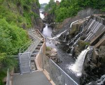 Summer view of the Gorge and the entire fish ladder.; Norma Stewart