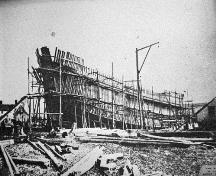 "The vessel ""The Rocklands"" under construction; Town of St. Stephen"