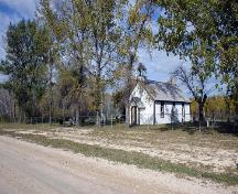 Contextual view, from the southeast, of All Saints Victoria Anglican Church, Stonewall area, 2006; Historic Resources Branch, Manitoba Culture, Heritage and Tourism, 2006