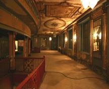 Interior view of the mezzanine of the Metropolitan Theatre, Winnipeg, 2006; Historic Resources Branch, Manitoba Culture, Heritage and Tourism, 2006