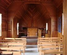 View of the altar and sanctuary, 2007.; Brett Quiring, 2007.