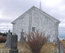 Rear elevation, Centreville Church, Centreville, NS, 2008.; Department of Tourism, Culture and Heritage, Province of Nova Scotia 2008