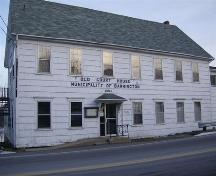 Front elevation of Old Court House, Barrington, NS, 2008.; Department of Tourism, Culture and Heritage, Province of Nova Scotia 2008