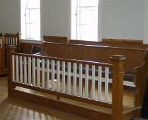 Jury seating, second floor court room, Old Court House, Barrington, 2008.; Department of Tourism, Culture and Heritage Province of Nova Scotia 2008