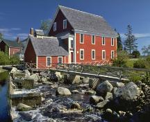 Western side of mill facing river, Barrington Woolen Mill, Barrington, 2005.; Dept. of Tourism, Culture and Heritage, Province of NS, 2005