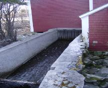 Sluiceway directing water to horizontal water wheel, Barrington Woolen Mill, Barrington, NS, 2007.; Dept. of Tourism, Culture and Heritage, Province of NS, 2007