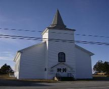 Front elevation, United Baptist Church, Woods Harbour, NS, 2008.; Department of Tourism, Culture and Heritage,Province of Nova Scotia 2008
