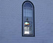 Window detail, United Baptist Church, Woods Harbour, NS, 2008.; Department of Tourism, Culture and Heritage, Province of Nova Scotia 2008