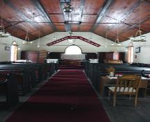 Interior view of St. Anne's Anglican Church, Poplar Point area, 2005; Historic Resources Branch, Manitoba Culture, Heritage and Tourism 2005