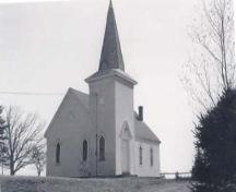 Front elevation, Brenton Methodist Church, Brenton, Yarmouth, NS, 1991; Municipality of the District of Yarmouth, NS, 1991