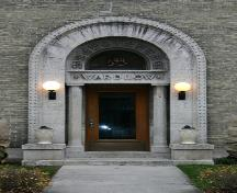 Primary entrance of the Wardlow Apartments, Winnipeg, 2006; Historic Resources Branch, Manitoba Culture, Heritage and Culture, 2006