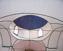 View into the main dome of the Assumption of the Blessed Virgin Mary Ukrainian Catholic Church, Oakburn area, 2006; Historic Resources Branch, Manitoba Culture, Heritage and Tourism, 2006