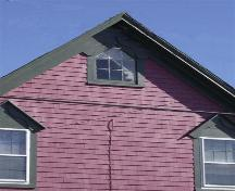 Detail of attic window, May Nickerson House, Lower Woods Harbour, NS, 2008.; Department of Tourism, Culture and Heritage, Province of Nova Scotia 2008