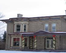Featured are elements of the Italianate style including bay windows and arched brickwork, 2007.; Lindsay Benjamin, 2007.