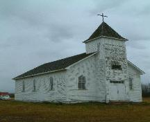 Northeast view of the Little Moose Church, 2007; J. Winkel, 2007