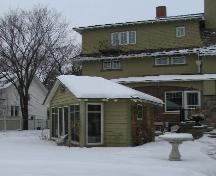 View of the gazebo and rear of the Sommerville/Petitt House, 2007.; City of Saskatoon, Kathlyn Szalasznyj, 2007