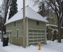 View of the former carriage house at the Sommerville/Petitt House, 2007.; City of Saskatoon, Kathlyn Szalasznyj, 2007