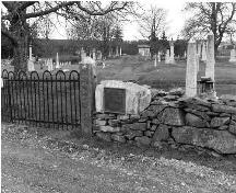 Chebogue Cemetery west entrance gate, Rockville, Municipality of the District of Yarmouth, NS, 1988.; Municipality of the District of Yarmouth, NS, 1988